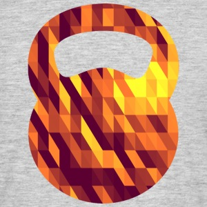 Kettlebell (Geometric Background) T-Shirts - Men's T-Shirt