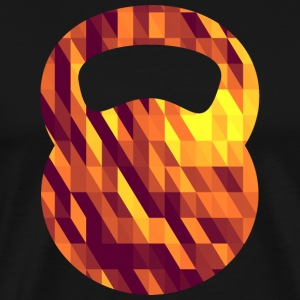 Kettlebell (Geometric Background) T-shirts - Premium-T-shirt herr