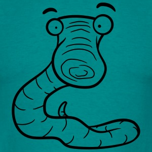 more fun, more skeptical scared worm T-Shirts - Men's T-Shirt