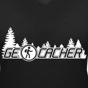 Geocachers T-Shirts - Women's V-Neck T-Shirt