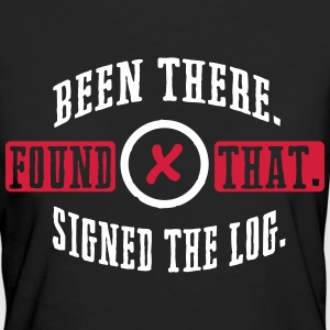 Geocaching: been there, found that, signed the log Magliette - T-shirt ecologica da donna