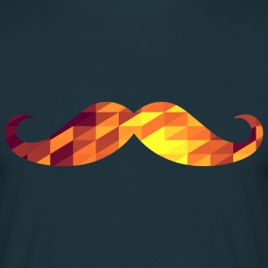 Moustache (Geometric Background) T-shirts - Herre-T-shirt