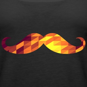 Moustache (Geometric Background) Tops - Women's Premium Tank Top