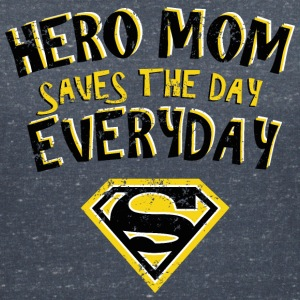 Superman Super Hero Mom - Dame-T-shirt med V-udskæring