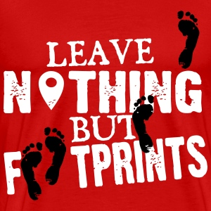Geocaching: leave nothing but footprints T-shirts - Mannen Premium T-shirt