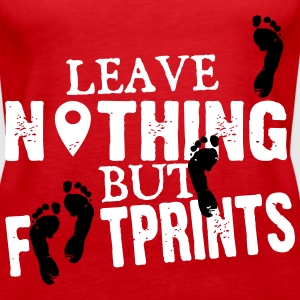 Geocaching: leave nothing but footprints Top - Canotta premium da donna