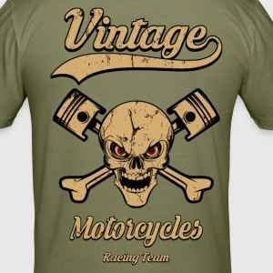 vintage motorcycles team 04 Tee shirts - Tee shirt près du corps Homme