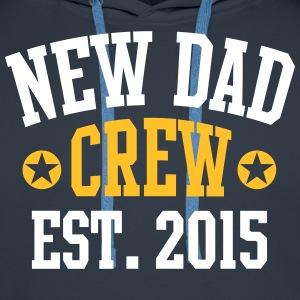 NEW DAD CREW Established 2015 2 Color Pullover & Hoodies - Männer Premium Hoodie