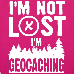 I'm not lost. I'm geocaching Bags & Backpacks - EarthPositive Tote Bag