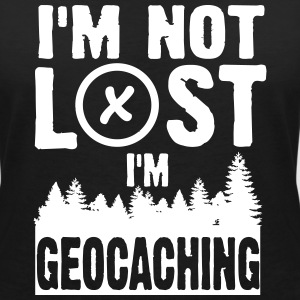 I'm not lost. I'm geocaching T-Shirts - Women's V-Neck T-Shirt