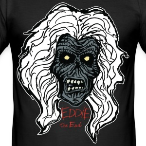Zombie Head, Eddie. black night shirt. - Men's Slim Fit T-Shirt