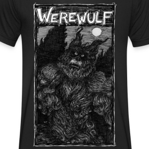 Werewulf, out in the full moon. black night shirt - Men's V-Neck T-Shirt