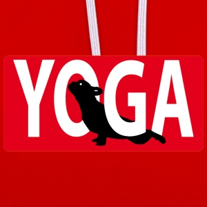 Yoga Dog 2 - Contrast Colour Hoodie