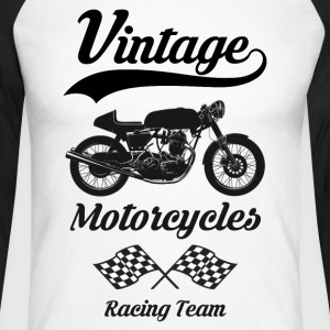 vintage motorcycles team 07 Manches longues - T-shirt baseball manches longues Homme