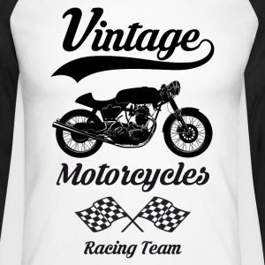 vintage motorcycles team 08 Manches longues - T-shirt baseball manches longues Homme