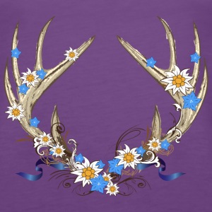 Deer antlers with gentian and edelweiss Tops - Women's Premium Tank Top