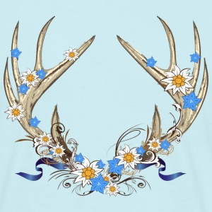 Deer antlers with gentian and edelweiss T-Shirts - Men's T-Shirt