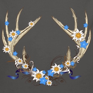 Deer antlers with gentian and edelweiss Baby Bodysuits - Longlseeve Baby Bodysuit