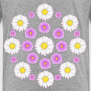 Flowers pink and white T-shirts - Børne premium T-shirt