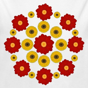 Flowers red and yellow Baby body - Baby bio-rompertje met lange mouwen