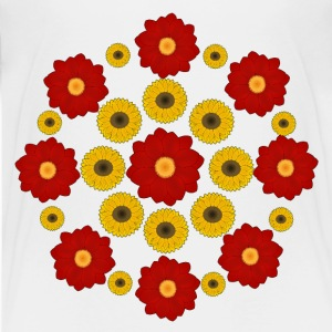 Flowers red and yellow T-shirts - Premium-T-shirt tonåring
