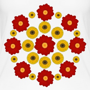 Flowers red and yellow Topy - Ekologiczny top damski