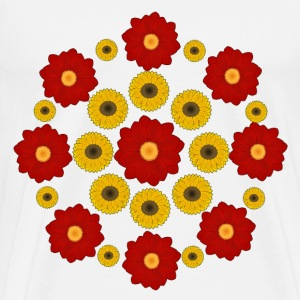 Flowers red and yellow T-shirts - Mannen Premium T-shirt
