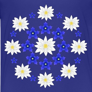 Flowers white and blue T-shirts - Premium-T-shirt tonåring