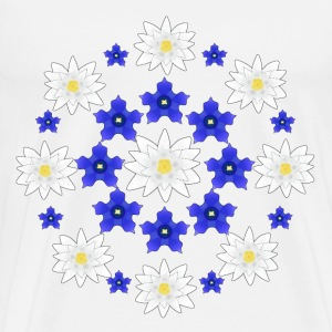 Flowers white and blue Tee shirts - T-shirt Premium Homme