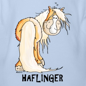 Happy Haflinger Shirts - Organic Short-sleeved Baby Bodysuit