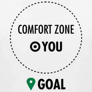 Step Out Of Your Comfort Zone T-skjorter - T-skjorte med V-utsnitt for kvinner