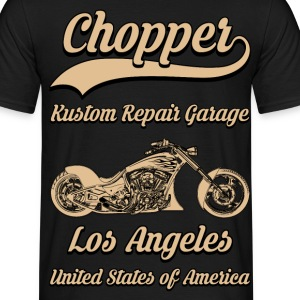 chopper repair garage 02 Tee shirts - T-shirt Homme
