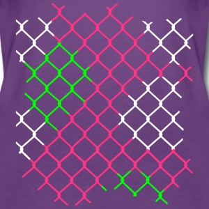 colorful chain-link fence Tops - Women's Premium Tank Top