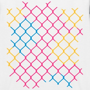 colorful chain-link fence Shirts - Kids' Baseball T-Shirt