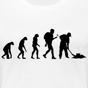 Geocaching Evolution T-shirts - Premium-T-shirt dam