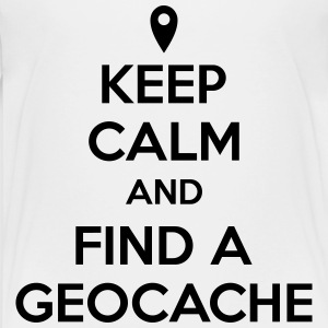 Keep calm and find a geocache T-shirts - Premium-T-shirt barn