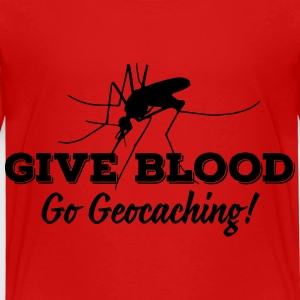 Give blood - go geocaching! T-shirts - Premium-T-shirt barn