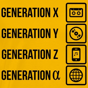 Generations cassette MP3 Player Web T-Shirts - Men's Premium T-Shirt
