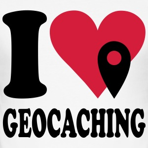 I love Geocaching T-Shirts - Männer Slim Fit T-Shirt