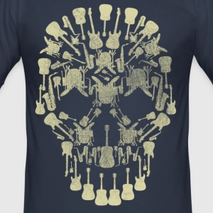 Musical Intruments Skull Men's T-Shirt - Men's Slim Fit T-Shirt