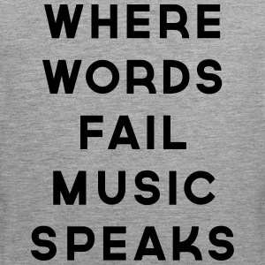 Music Speaks  Tanktops - Mannen Premium tank top