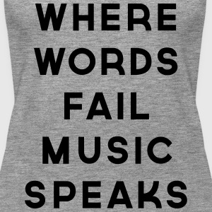 Music Speaks  Topper - Premium singlet for kvinner