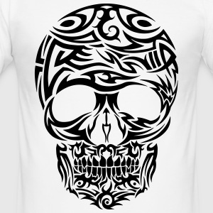 Tribal Tattoo Skull (Black) Men's T-Shirt - Men's Slim Fit T-Shirt