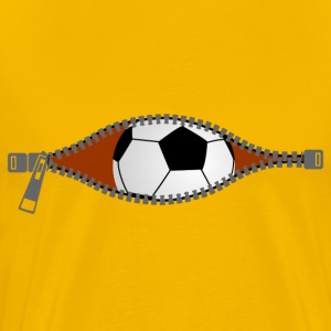 Pregnant football zipper T-Shirts - Men's Premium T-Shirt