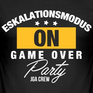 Eskalationsmodus JGA T-Shirts - Männer Slim Fit T-Shirt