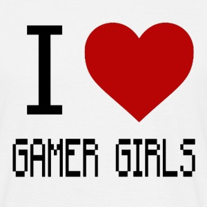 I Love Gamer Girls - Men's T-Shirt