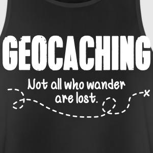 Geocaching - not all who wander are lost Ropa deportiva - Camiseta sin mangas hombre transpirable