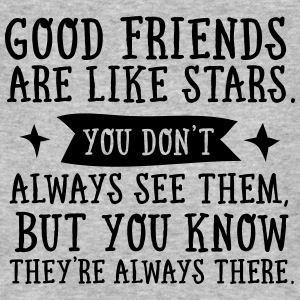 Good Friends Are Like Stars... Magliette - T-shirt ecologica da uomo