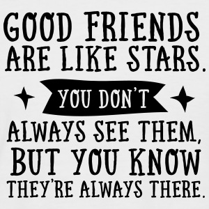 Good Friends Are Like Stars... Camisetas - Camiseta béisbol manga corta hombre