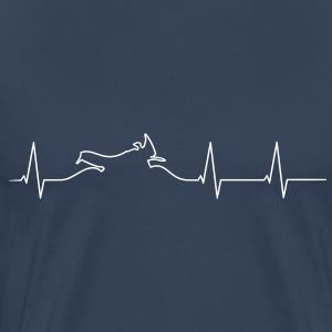 Motorcycle Adventure heartbeat T-Shirts - Men's Premium T-Shirt